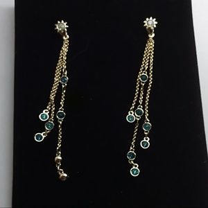 Swarovski New Linear Blue Earrings